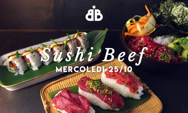 Sushi di Carne? Provatelo all'aperitivo di mercoledì 25 del Beef Bazaar