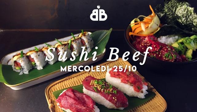 Sushi Beef, sì avete letto bene. Ovvero un ristorante sushi di carne